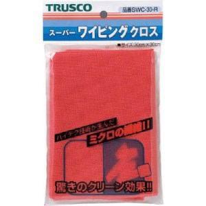 TRUSCO スーパーワイピングクロス 300mmX300mm 赤