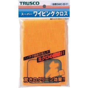 TRUSCO スーパーワイピングクロス 300mmX300mm 黄