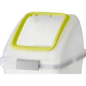コンドル (屋内用屑入)リサイクルトラッシュ SKL-35(角穴蓋)黄