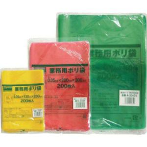 TRUSCO 小型ポリ袋 縦300X横200Xt0.05 200枚入 緑