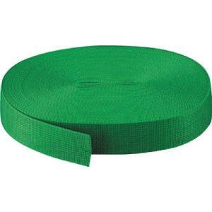 TRUSCO PPベルト幅50mmX長さ50m 緑