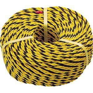 TRUSCO 標識ロープ 3つ打 線径7.5mmX長さ50m