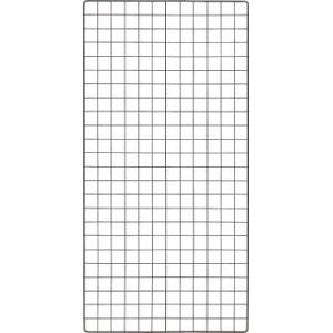 TRUSCO 棚用ディスプレイネット 金具付 600X1200 黒