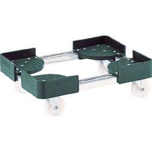 TRUSCO 伸縮式コンテナ台車 内寸300-400X600-700 SUS製