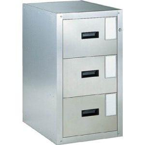 TRUSCO 耐震薬品庫 455X600XH800 3段引出型