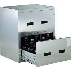 TRUSCO 耐震薬品庫 705X600XH800 2段引出型