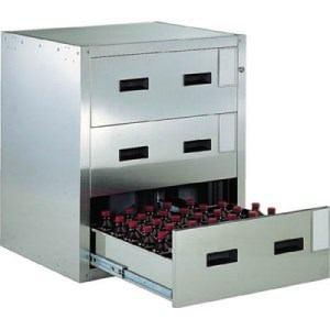 TRUSCO 耐震薬品庫 705X600XH800 3段引出型