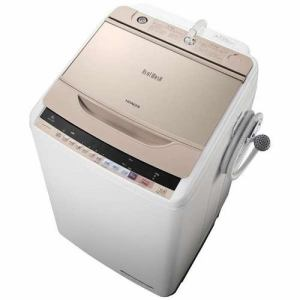 日立 BW-V80B-N 全自動洗濯機 (洗濯8.0kg) 「ビートウォッシュ」 シャンパン