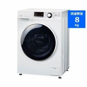 AQUA AQW-FV800E(W) ドラム式洗濯機 (8kg・左開き) ホワイト