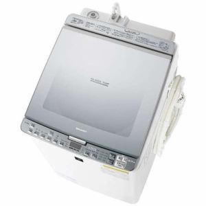 シャープ ES-PX8B-S プラズマクラスター洗濯乾燥機 (洗濯8.0kg/乾燥4.5kg) シルバー系