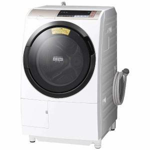 日立 BDSV110BL-N ドラム式洗濯乾燥機 (洗濯11.0kg/乾燥6.0kg・左開き) 「ヒートリサイクル 風アイロン ビッグドラム」 シャンパン