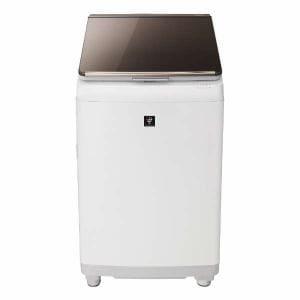 シャープ ES-PT10C-T 縦型洗濯乾燥機 (洗濯10.0kg/乾燥5.0kg) ブラウン