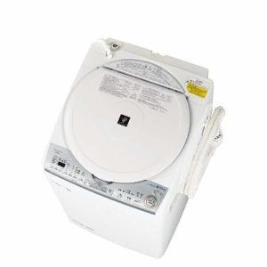 シャープ ES-TX8C-W 縦型洗濯乾燥機 (洗濯8.0kg/乾燥4.5kg) ホワイト