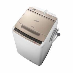 日立 BW-V80C-N ビートウォッシュ 全自動洗濯機 (洗濯8.0kg) シャンパン