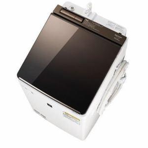 シャープ ES-PU10C-T 縦型洗濯乾燥機 (洗濯10.0kg/乾燥5.0kg) ブラウン系