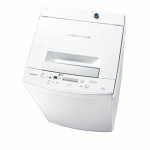 東芝 AW-45M7-W 全自動洗濯機 (洗濯4.5kg) ピュアホワイト