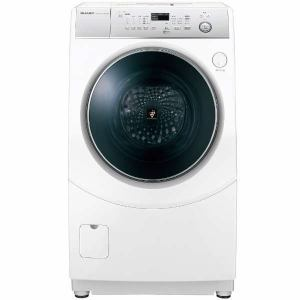 シャープ ES-H10C-WL ドラム式洗濯乾燥機 (洗濯10.0kg /乾燥6.0kg・左開き) ホワイト系