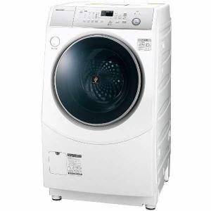 シャープ ES-H10C-WR ドラム式洗濯乾燥機 (洗濯10.0kg /乾燥6.0kg・右開き) ホワイト系