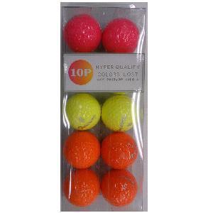 千代田ゴルフ ハイパークオリティカラーロストボール 【ゴルフボール】 1パック(10球) TW 10P カラーロストボール
