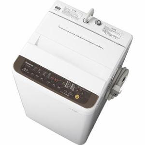 パナソニック NA-F60PB12-T 全自動洗濯機 6kg バスポンプ内蔵 ブラウン