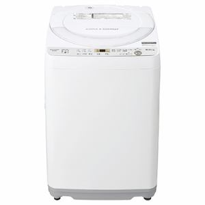 シャープ ES-GE6C-W 全自動洗濯機 (洗濯6.0kg) ホワイト系