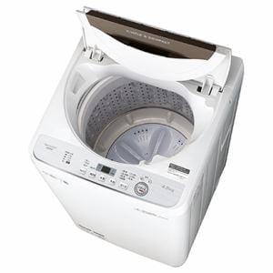 シャープ ES-GE4C-T 全自動洗濯機 (洗濯4.5kg) ブラウン系