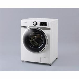 アイリスオーヤマ AD7W/S ドラム式洗濯機  (左開き・7.5㎏) ホワイト/シルバー