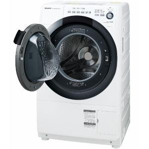 シャープ ES-S7D-WL ドラム式洗濯乾燥機 (洗濯7.0kg/乾燥3.5kg・左開き) ホワイト系