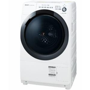シャープ ES-S7D-WR ドラム式洗濯乾燥機 (洗濯7.0kg/乾燥3.5kg・右開き) ホワイト系