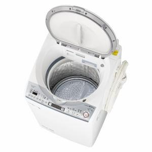 シャープ ES-TX8D-W 縦型洗濯乾燥機 ホワイト系(洗濯8kg、乾燥4.5kg)
