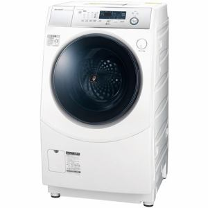 シャープ ES-H10D-WL ドラム式洗濯乾燥機 (洗濯10.0kg/乾燥6.0kg・左開き) ホワイト系