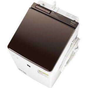 シャープ ES-PW10D-T 縦型洗濯乾燥機 (洗濯10.0kg/乾燥5.0kg) ブラウン系
