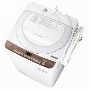 シャープ ES-T712-T 全自動洗濯機 (洗濯7kg) ブラウン系