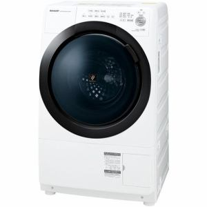 シャープ ES-S7E-WL ドラム式プラズマクラスター洗濯乾燥機 (洗濯7kg/乾燥3.5kg 左開き) ホワイト系