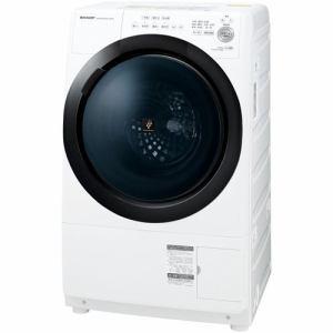 シャープ ES-S7E-WR ドラム式プラズマクラスター洗濯乾燥機 (洗濯7kg/乾燥3.5kg 右開き) ホワイト系