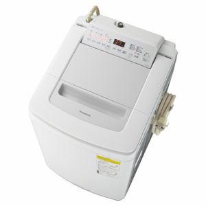 洗濯機 パナソニック 乾燥機付き 8KG NA-FD80H8-S 縦型洗濯乾燥機 (洗濯8kg・乾燥4.5kg) 泡洗浄 シルバー