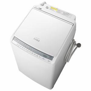 洗濯機 日立 乾燥機付き 8KG BW-DV80F W 縦型洗濯乾燥機 ビートウォッシュ (洗濯8kg・乾燥4.5kg) ホワイト