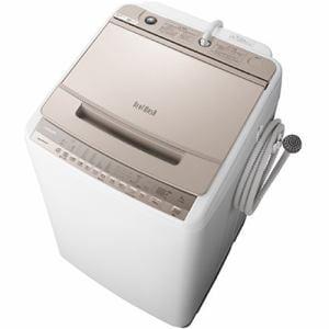 洗濯機 日立 8KG BW-V80F N 全自動洗濯機 ビートウォッシュ (洗濯・8kg) シャンパン