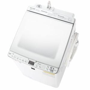 シャープ ES-PX8E 縦型洗濯乾燥機 (洗濯8.0kg/乾燥4.5kg) ステンレス穴なし槽 ホワイト系