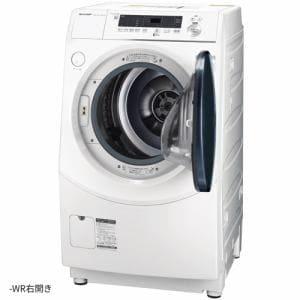 シャープ ES-H10E-WR ドラム式洗濯乾燥機 (洗濯10.0kg/乾燥6.0kg・右開き) ホワイト系