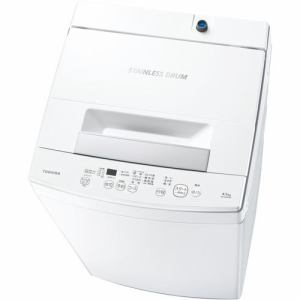東芝 AW-45M9-W 全自動洗濯機 (洗濯4.5kg) ピュアホワイト