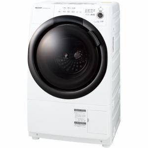 シャープ ES-S7F-WL ドラム式洗濯乾燥機 (洗濯7.0kg 乾燥3.5kg・左開き) ホワイト系