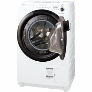 シャープ ES-S7F-WR ドラム式洗濯乾燥機 (洗濯7.0kg 乾燥3.5kg・右開き) ホワイト系