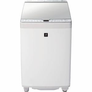 シャープ ESPX8F 縦型洗濯乾燥機 ステンレス穴なし槽 (洗濯8.0kg 乾燥4.5kg) ホワイト系