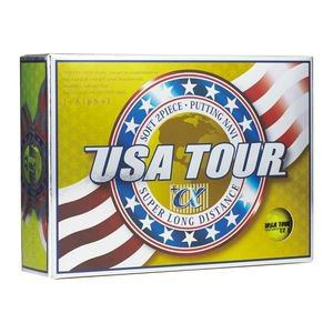 USA ツアーディスタンス +α ゴルフボール 1ダース 12球入り(イエロー) USA TOUR DISTANCE +α 12P YELLOW USA TOUR YL