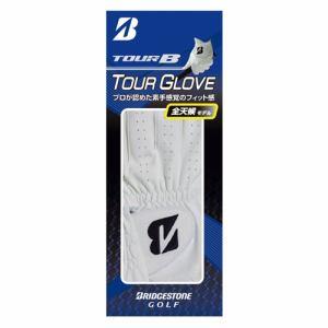 ブリヂストンゴルフ メンズ・ゴルフグローブ 左手用(ホワイト・26cm) BRIDGESTONE GOLF TOUR B ツアーグローブ GLG72JWH26