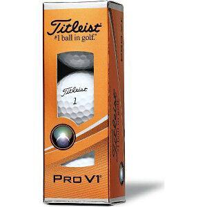 タイトリスト ゴルフボール PRO V1《1スリーブ(3球)/ホワイト・ハイナンバー(5?8)》