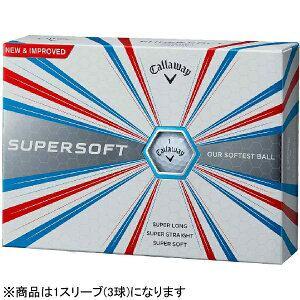 キャロウェイ ゴルフボール SUPERSOFT ボール《1スリーブ(3球)/ホワイト》
