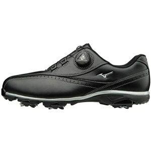 ミズノ メンズ ゴルフシューズ ワイドスタイル002ボア EEEE(26.0cm/ブラック) 51GQ1740【靴幅:4E】
