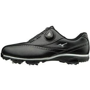 ミズノ メンズ ゴルフシューズ ワイドスタイル002ボア EEEE(26.5cm/ブラック) 51GQ1740【靴幅:4E】